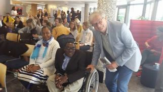 Mussa Chiwaula (Centre ) at  Leaving No One Behind in Education Conference